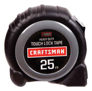 Craftsman  25 ft. L x 1 in. W Black  1 pk Tape Measure
