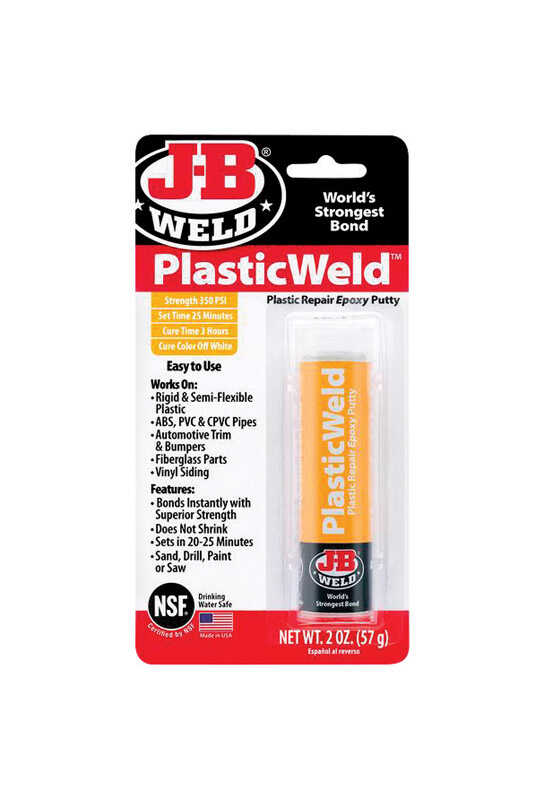 J-B Weld  PlasticWeld  Super Strength  Putty  Plastic Epoxy  2 oz.