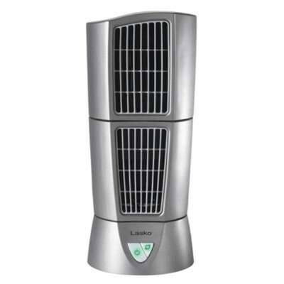 Lasko  14 in. H 3 speed Oscillating Tower Fan