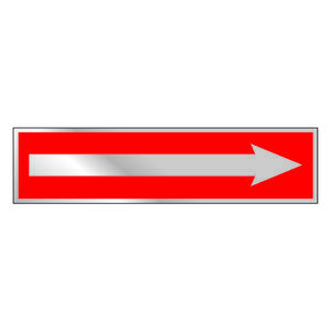 Hy-Ko  English  Arrow  Sign  Aluminum  2 in. H x 8 in. W