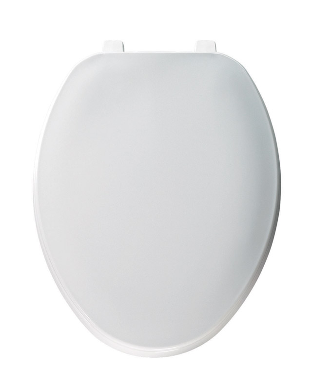 Mayfair  Elongated  White  Plastic  Toilet Seat