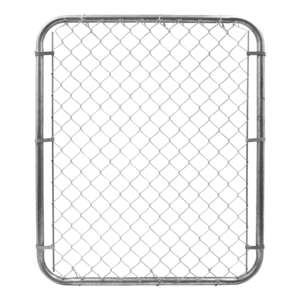 Yard Gard  48 in. H 12 Ga. Galvanized  Silver  Metal  Chain Link Fence Gate