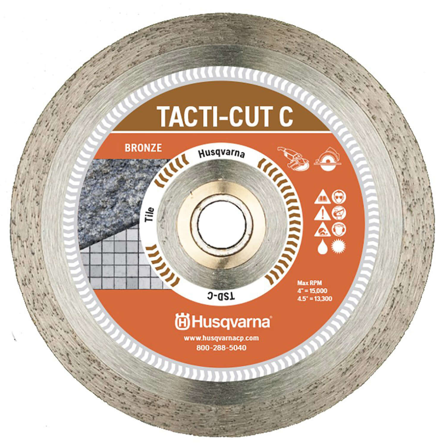 Husqvarna  Tacti-Cut Dri Disc  7 in. Dia. x 5/8 in.  Continuous Rim Diamond Saw Blade  1 pk