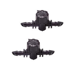 Raindrip Barbed 1/4 in. Drip Irrigation Valve Connector 2 pk