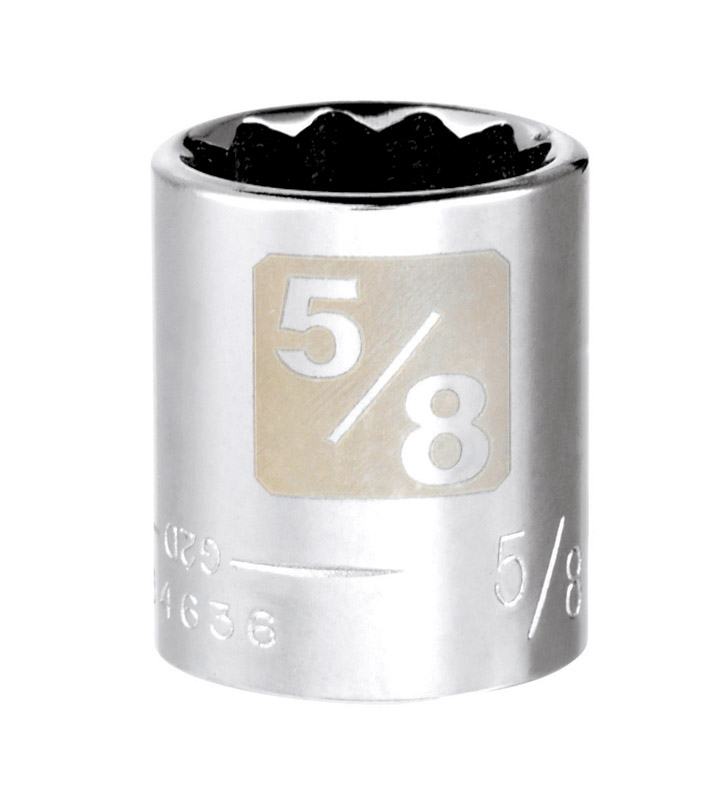 Craftsman  5/8 in.  x 3/8 in.  SAE  12 Point Standard  Socket  1 pc.