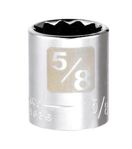 Craftsman  5/8 in.  x 3/8 in. drive  SAE  12 Point Standard  Socket  1 pc.