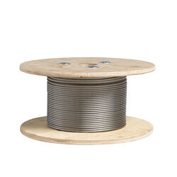 Deckorators  1/8 in. W x 500 ft. L Stainless Steel  Cable