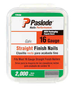 Paslode  16 Ga. Smooth Shank  Straight Coil  Finish Nails  2-1/2 in. L x 0.11 in. Dia. 2,000 pk