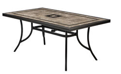 Living Accents  Cassara  Rectangular  Brown  Aluminum  Dining Table