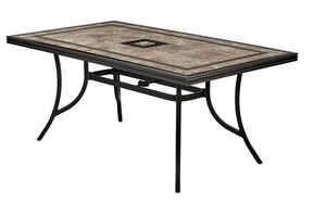 Living Accents  Brown  Cassara  Rectangular  Dining Table