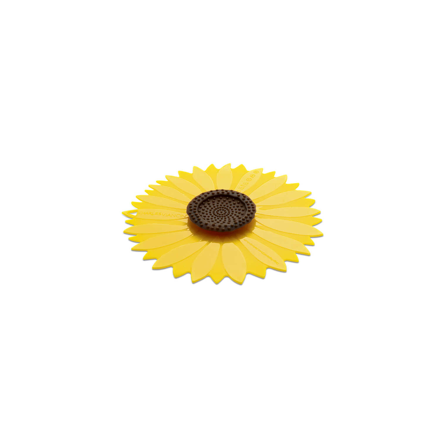 Charles Viancin  6 in. W x 6 in. L Yellow  Small Sunflower Lid