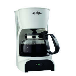 Mr. Coffee  Simple Brew  4 cups White  Coffee Maker