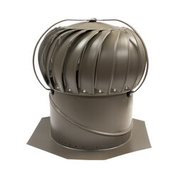 Air Vent  Air Hawk  18.9 in. H x 12 in. Dia. Weatherwood  Aluminum  Turbine and Base
