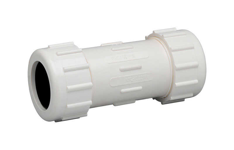 Homewerks  Schedule 40  1-1/2 in. Compression   x 1-1/2 in. Dia. Compression  PVC  Coupling