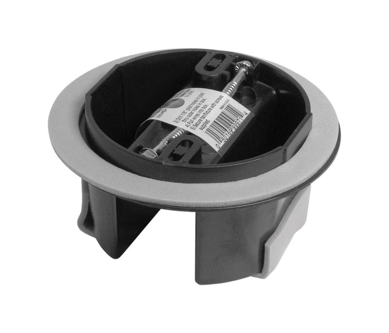 Cantex  2-3/4 in. 1 Gang  PVC  Gray  Junction Box  Round