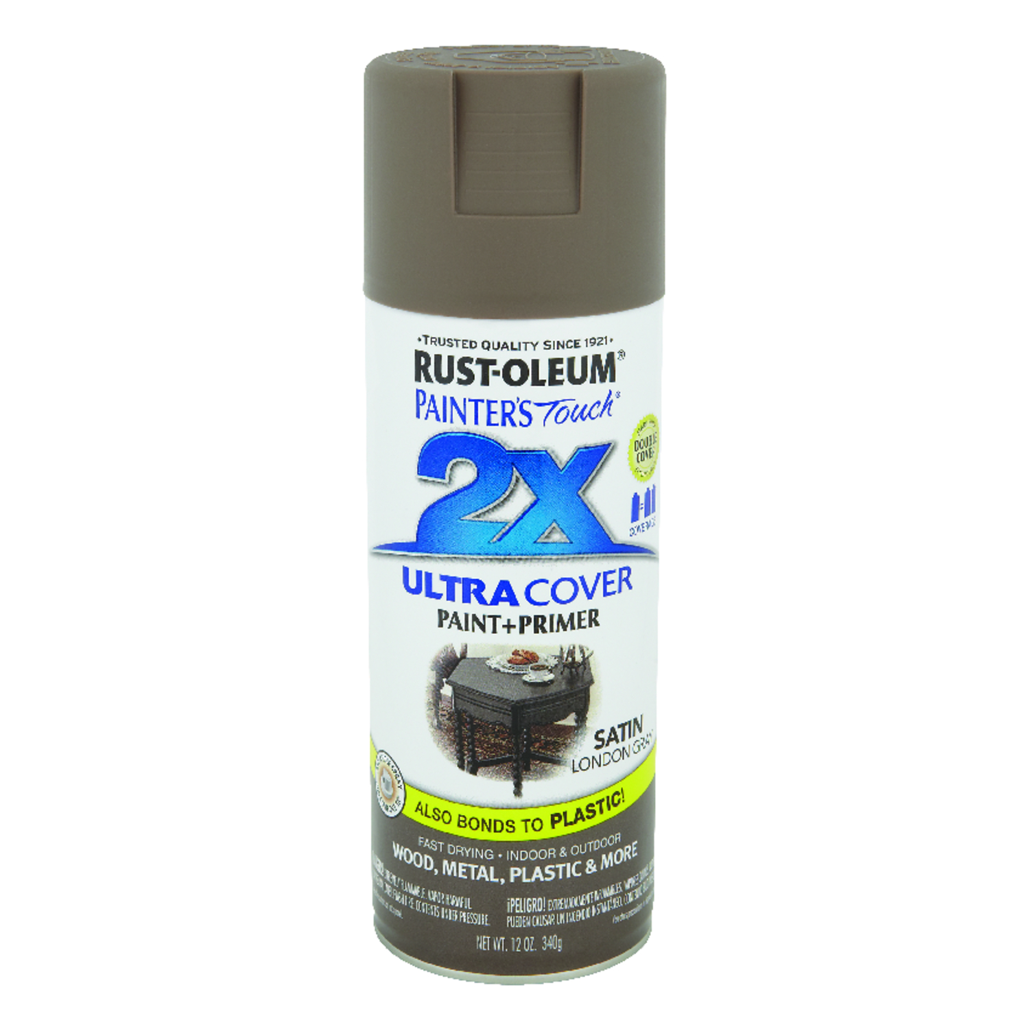 Rust-Oleum  Painter's Touch Ultra Cover  Satin  London Gray  12 oz. Spray Paint