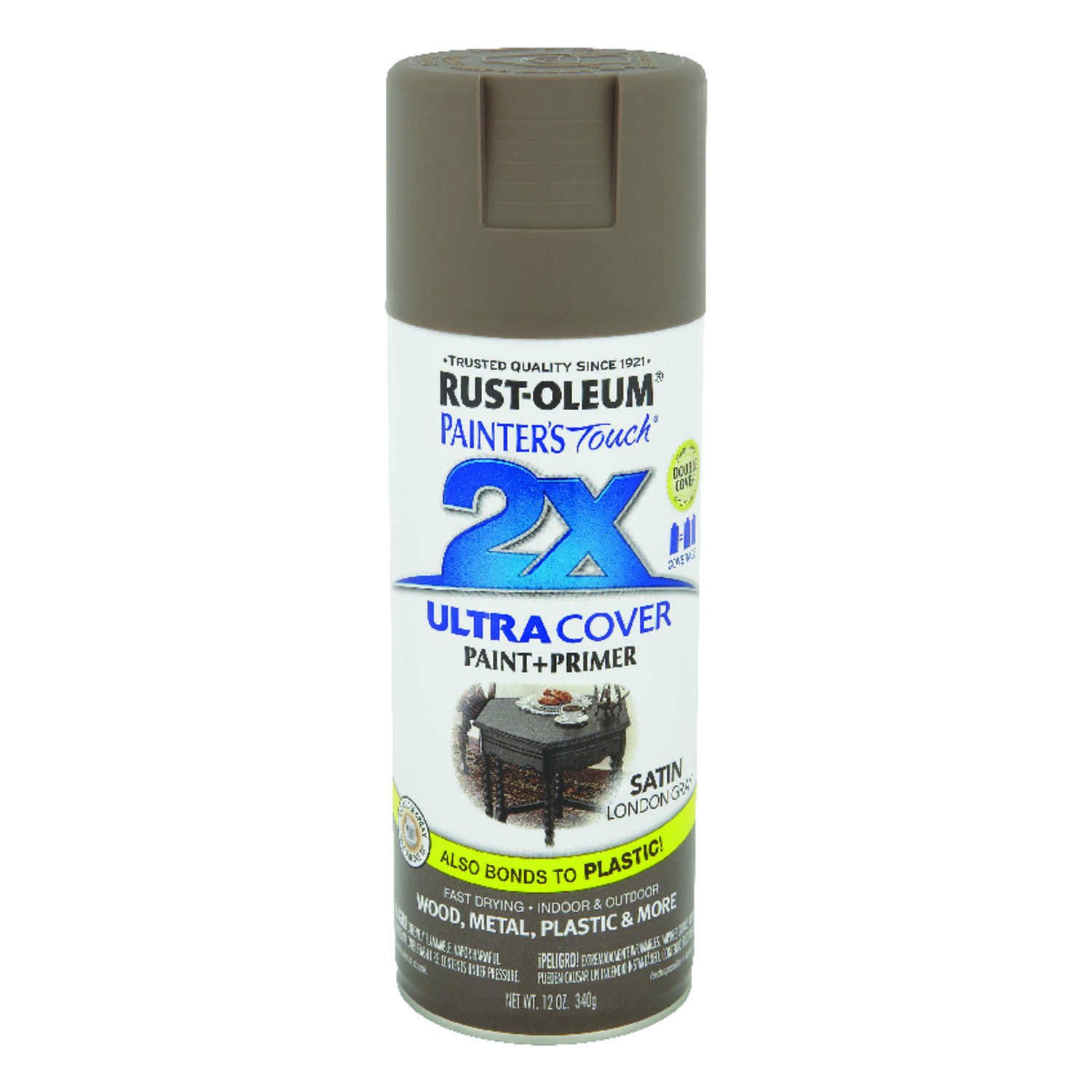 Rust-Oleum  Painter's Touch Ultra Cover  Satin  London Gray  Spray Paint  12 oz.