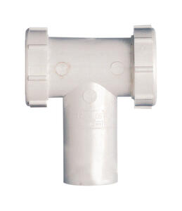 Plumb Pak  1-1/2 in. Dia. x 6 in. L Plastic  Tee and Tailpiece