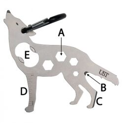 UST Brands  Tool A Long  Wolf  Multi-Tool  Silver  1 pc.