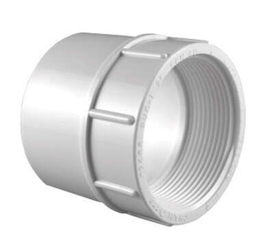 Charlotte Pipe Schedule 40 2 in. Slip x 2 in. Dia. FPT PVC Pipe Adapter