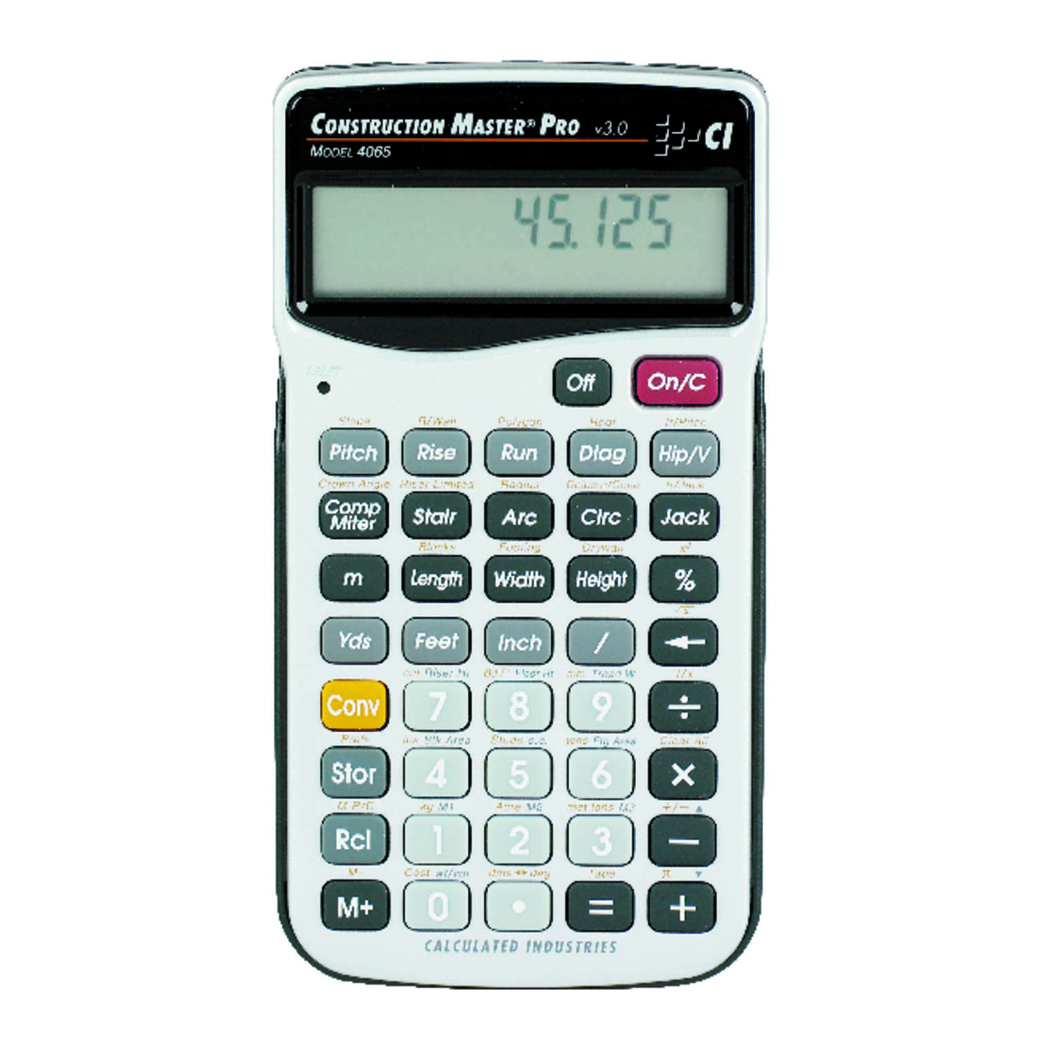 Calculated Industries  11 digit Construction Calculator  Gray