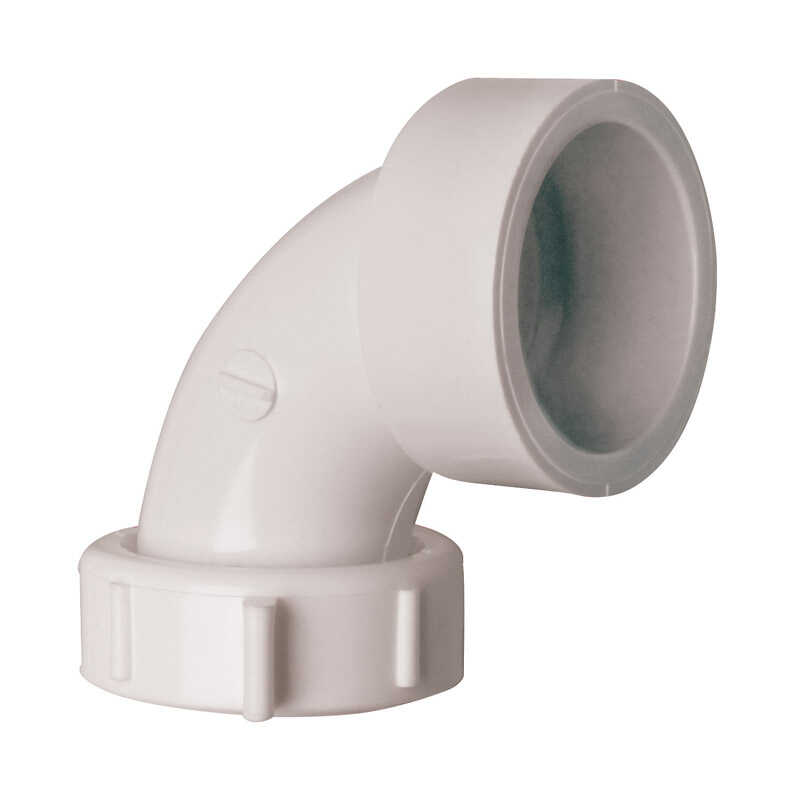 Plumb Pak  1-1/2 in. Dia. 90 Degree Elbow  Plastic