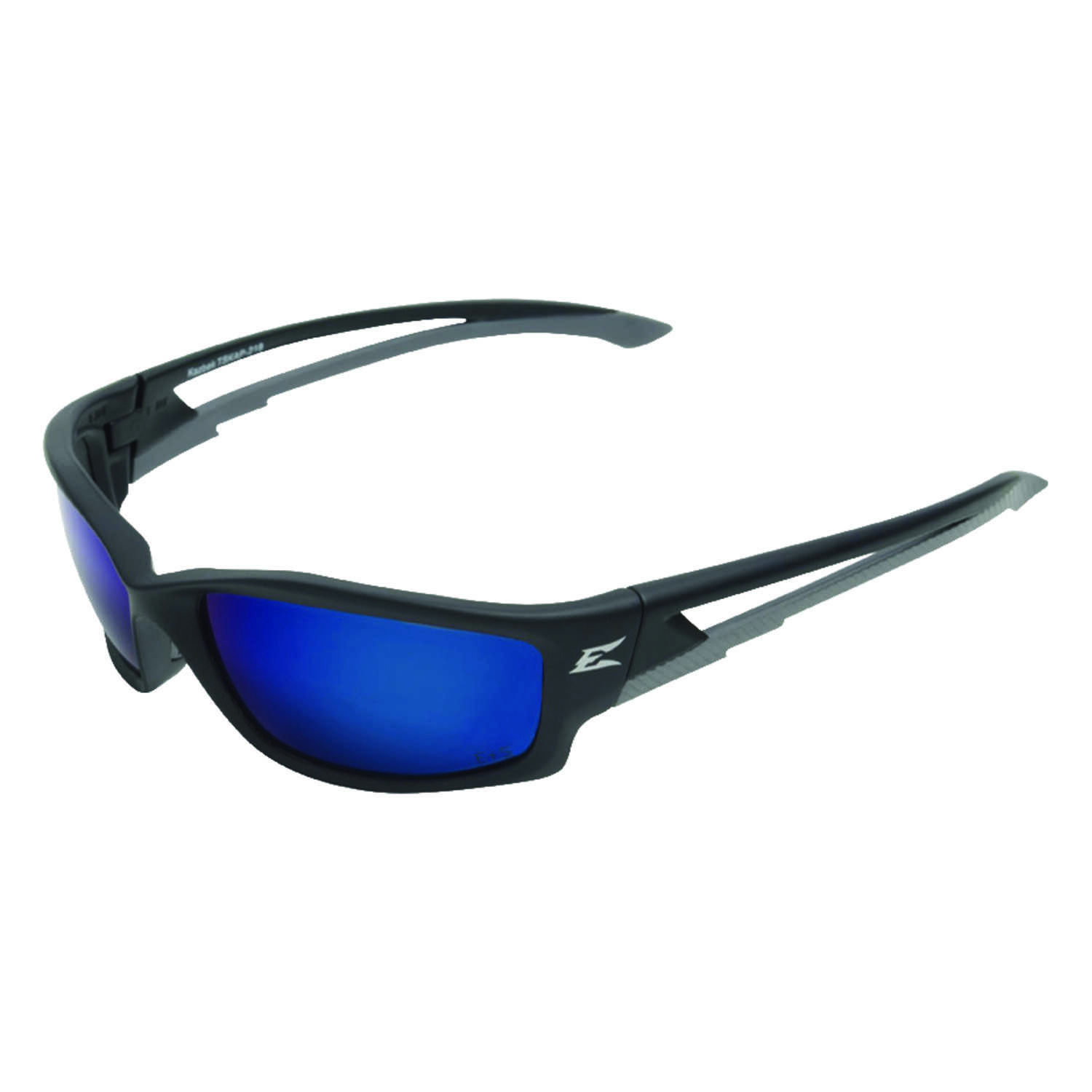 Edge Eyewear  Kazbek  Blue Lens Black Frame 1 pc. Polarized Safety Glasses