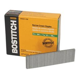 Bostitch 1-3/8 in. L Stainless Steel Finish Staples 18 Ga.