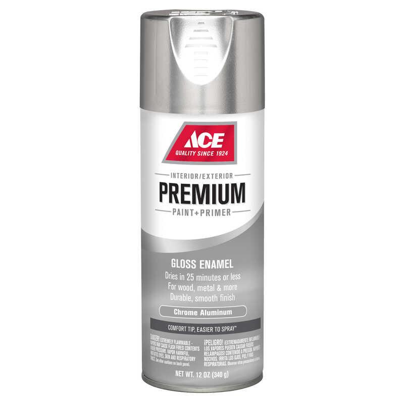 ace premium gloss chrome aluminium enamel spray paint 12 oz. - ace ...