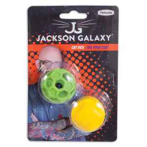 Jackson Galaxy  Assorted  Dice and Ball  Cat Toy  Rubber