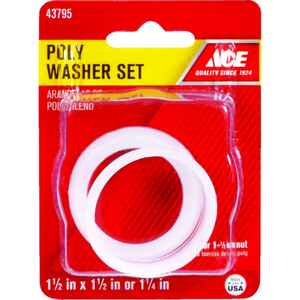 Ace  1-1/4 in. Dia. Plastic  Poly Washer  2