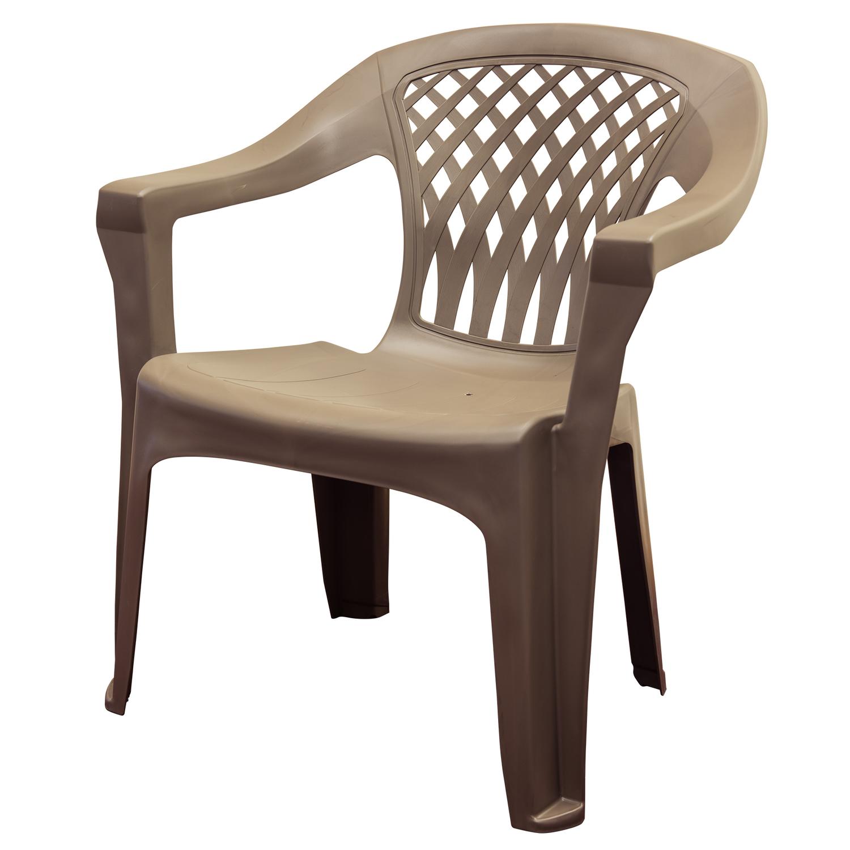 adams big easy brown polypropylene stackable chair ace hardware