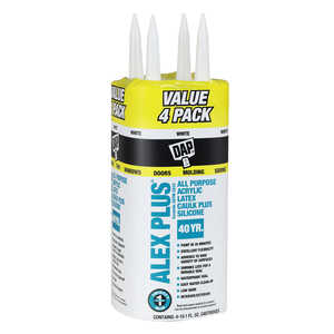 DAP  White  Caulk  10.1 oz. Acrylic Latex