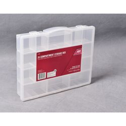 Ace  11-5/8 in. L x 14-1/2 in. W x 2-11/16 in. H Tool Storage Bin  Plastic  20 compartments Clear