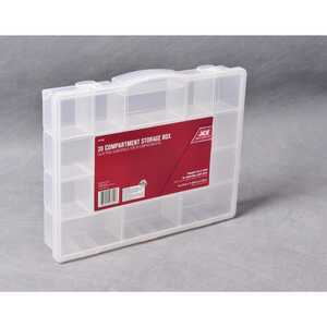 Ace  11-5/8 in. L x 14-1/2 in. W x 2-11/16 in. H Tool Storage Bin  Plastic  20 compartment Clear