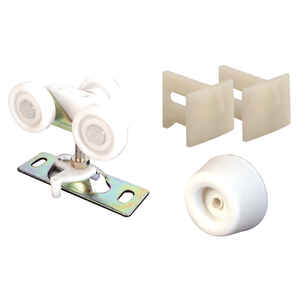 Prime-Line  White  Steel  Hardware Kit  1 pk