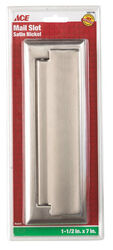 Ace 2.6875 in. W x 7 in. H Satin Nickel Mail Slot