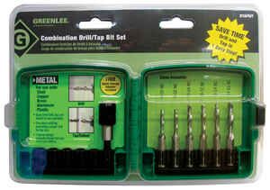 Greenlee  6-32 to 1/4-20 in. Dia. x 12.7 in. L High Speed Steel  Drill and Tap Bit Set  1/4 in. Hex