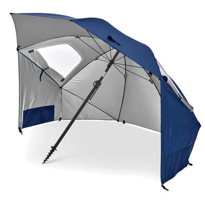 Sport-Brella 8 ft. Tiltable Blue Sport Umbrella