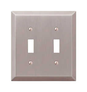 Amerelle  2 gang Stamped Steel  Toggle  Wall Plate  1 pk