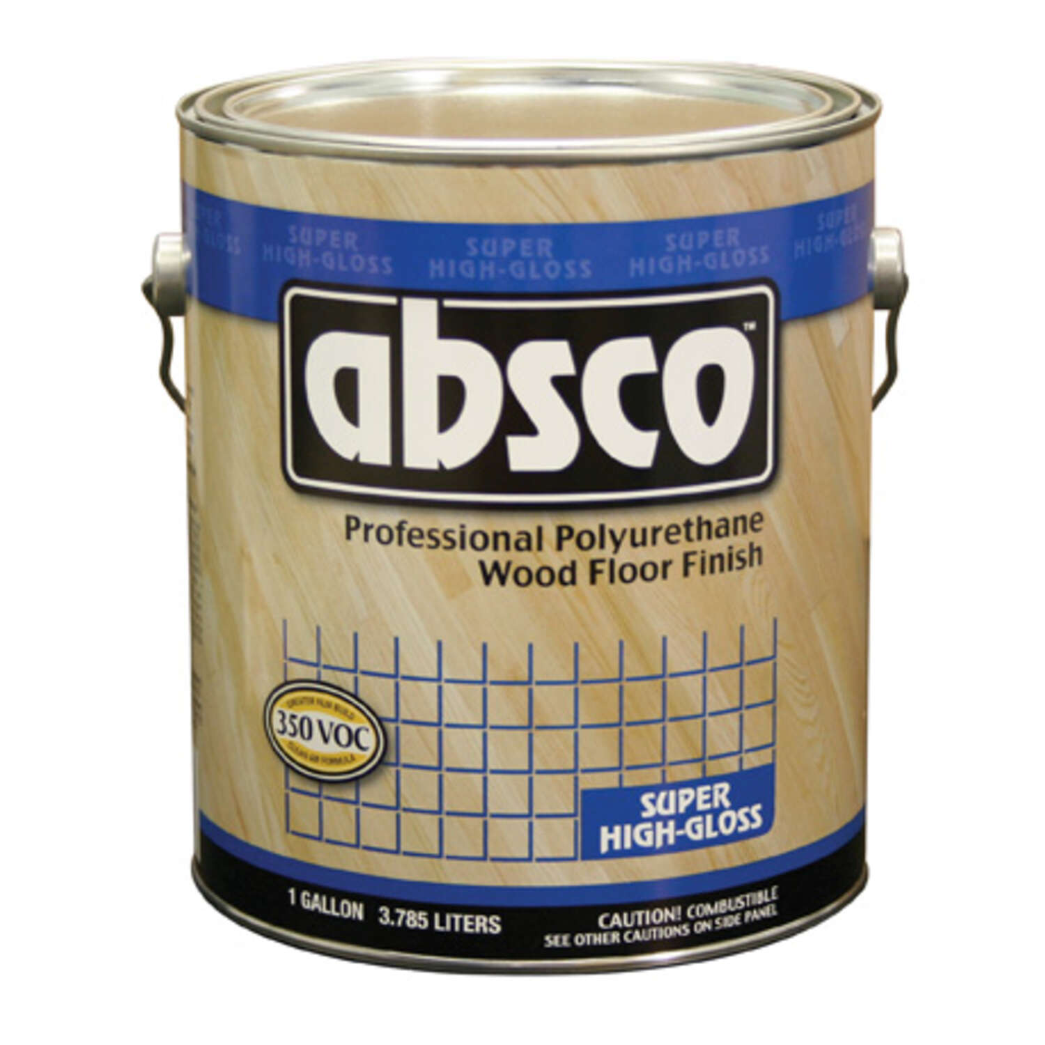 Absco  Super High-Gloss  Clear  Polyurethane Wood Floor Finish  1 gal.