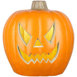 Znone  Blow Mold Pumpkin  Blow Mold Jack-O-Lantern  Lighted yellow  Halloween Decoration  20.67 in.