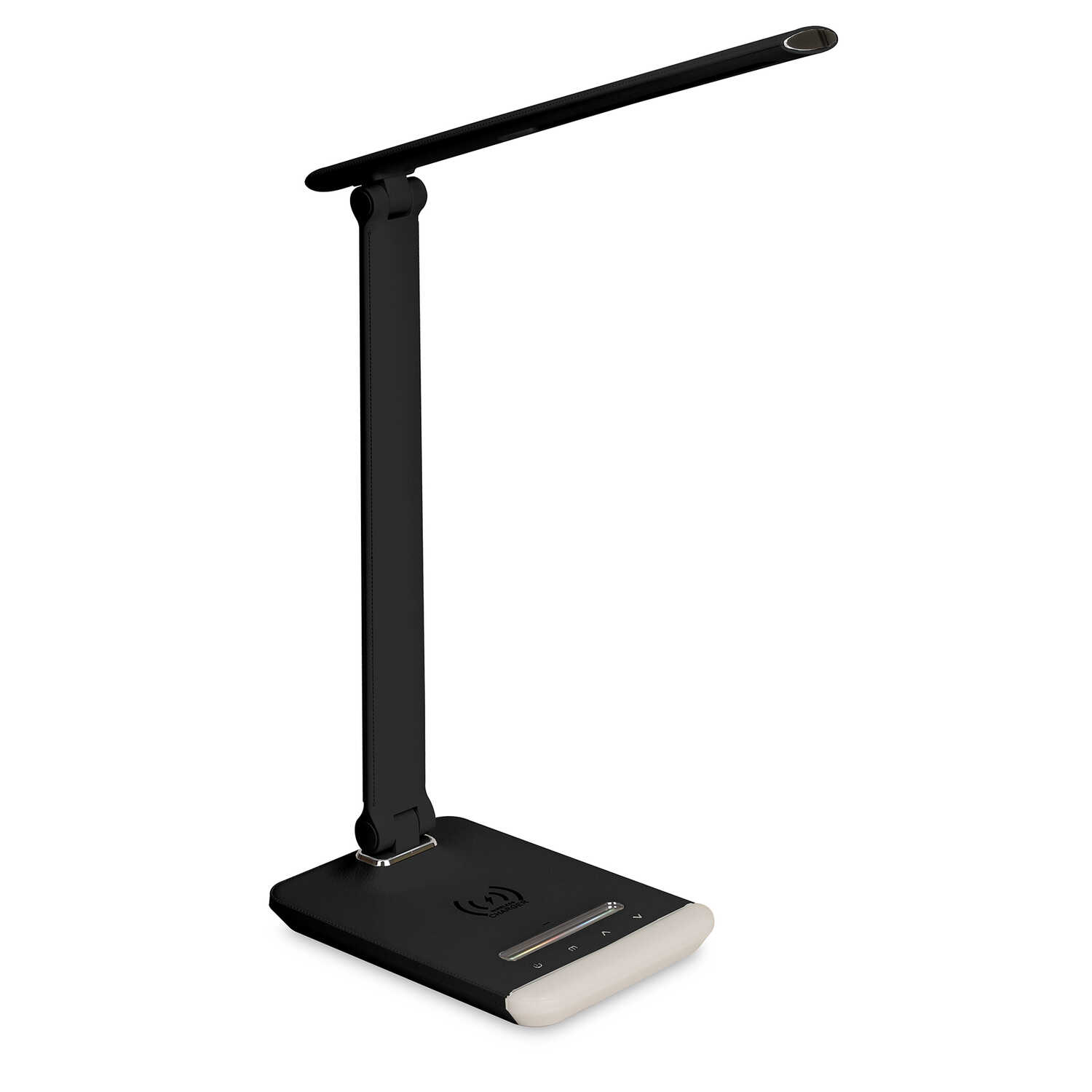 iHome  14.97 in. Gloss  Black  Desk Lamp w/Charging Station