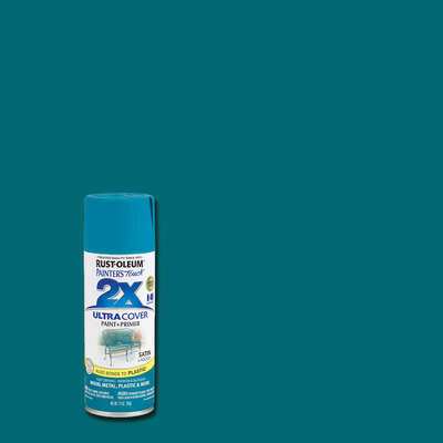 Rust-Oleum  Painter's Touch 2X Ultra Cover  Satin  Lagoon  Spray Paint  12 oz.
