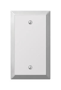 Amerelle  Century  Polished Chrome  1 gang Stamped Steel  Blank  Wall Plate  1 pk