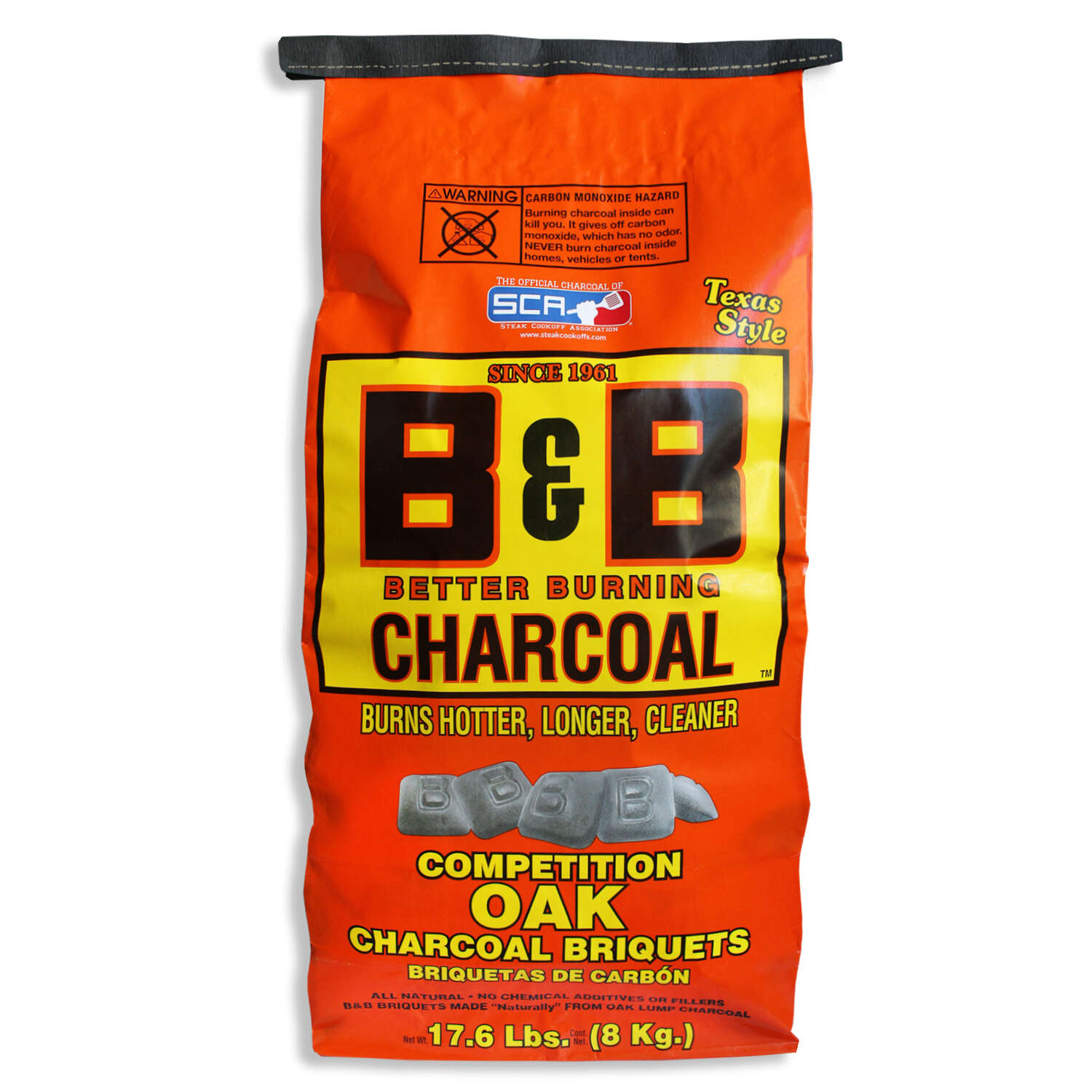 B&B Charcoal  All Natural Oak Hardwood  Charcoal Briquettes  17.6 lb.