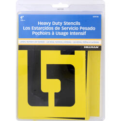 Hillman 6 in. Heavy Duty Stencil Set 38 pk