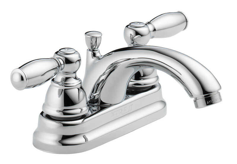 Peerless  Claymore  Two Handle  Lavatory Faucet  4 in. Chrome