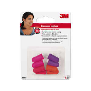 3M  32 dB Soft Foam  Ear Plugs  Orange/Purple  4 pair