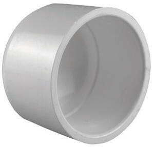 Charlotte Pipe  Schedule 40  3 in. Socket   x 3 in. Dia. Socket  PVC  Cap